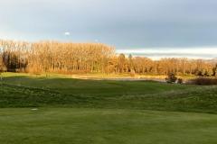 Op bezoek bij golfbaan ..